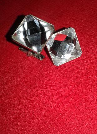 """Блестящие запоки""""алмазы""""-стильно модно винтаж"""