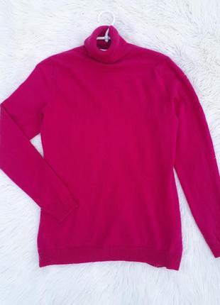 Кашемировый малиновый свитер раз.м-l