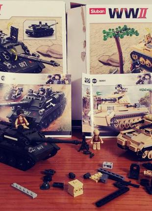 Танк WW2 B0687 + B0691 Sluban конструктор аналог lego