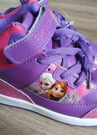Удобные хайтопы, кроссовки, ботиночки Frozen 31-36р. 3 цвета