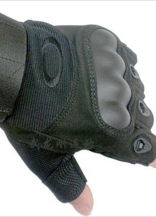 Перчатки беспалые тактические (черные и олива)