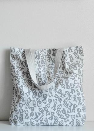 Эко-сумка / шоппер ручной работы «очки»