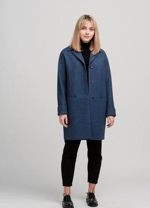 Однобортное пальто прямого силуэта season джинс