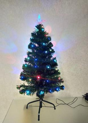 Искусственная новогодняя ёлка со светодиодными лампочками, све...
