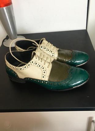 Туфли кожаные оксфорды