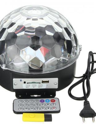 Светодиодный диско шар Magic Ball MP-3 Светомузыка USB Bluetooth
