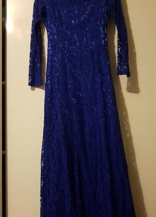 Платье вечернее гипюровое