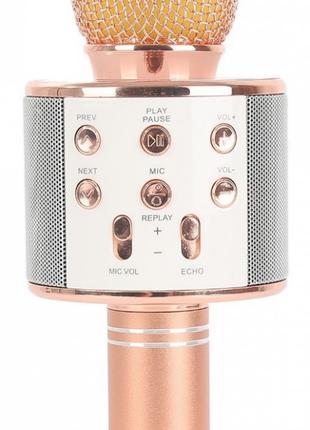 Караоке микрофон Bluetooth беспроводной Wster WS 858