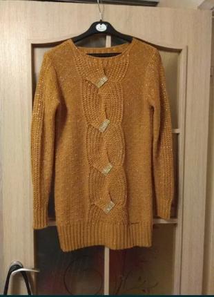 Стильный свитер (пуловер, джемпер) 48-50 рр.
