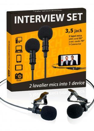 Петличный микрофон PowerDeWise — Набор из двух микрофонов