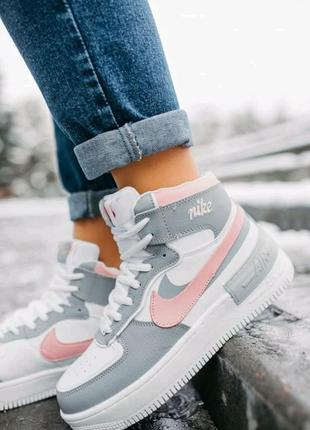 Женские кроссовки Nike Air Force Shadow зима