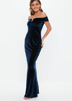Шикарное бархатное макси платье