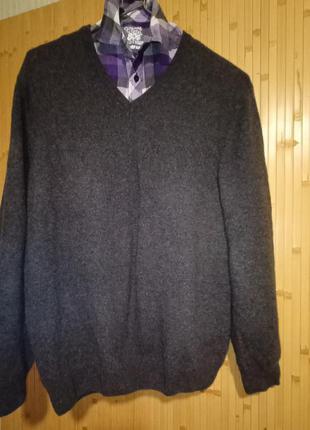 Супермягкий мужской реглан,джемпер с кашемиром,свитер.60-64раз...