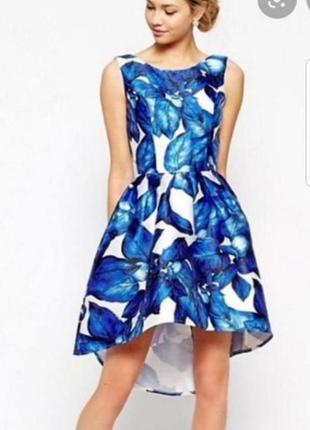 Яркое платье миди в цветочный принт chi chi london p.m