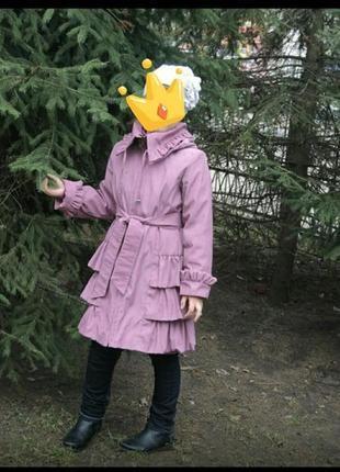 Демосезонное пальтишко на девочку . смотрите замеры