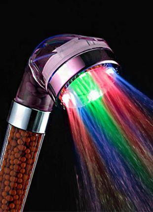 Светодиодная насадка для душа Led Shower с автоматической подсвет