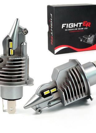 Автомобильные светодиодные лампы Bi-Led Fighter H4, 2*35Вт