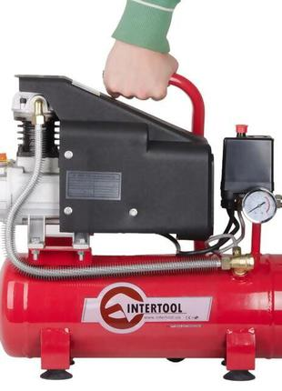 Компрессор INTERTOOL PT-0002 (9 л, 0.75 кВт, 220В, 8атм, 160 л/м)