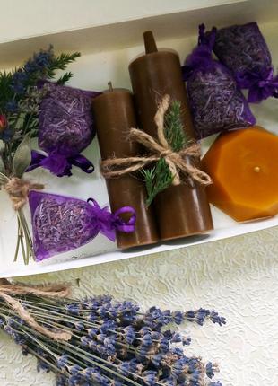 Подарочный набор натуральные свечи/лаванда/