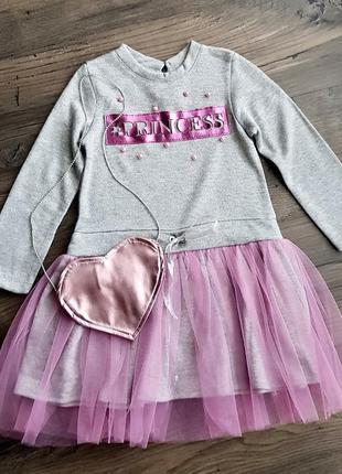 Платье с сумочкой, юбка фатин 116 см