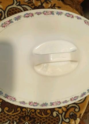 Супница, утятница, овальной формы, 30 х 22 см. Винтаж