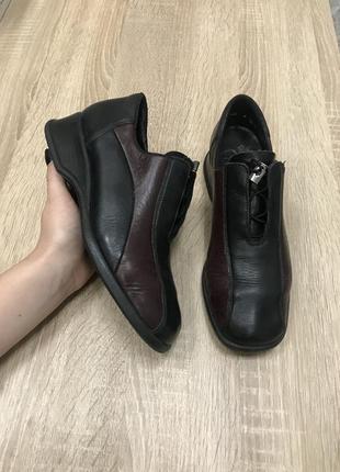 Rieker 36 р кожа туфли кроссовки ботинки черевики кросівки туфлі
