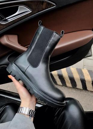 Женские ботинки bottega veneta fur (мех)