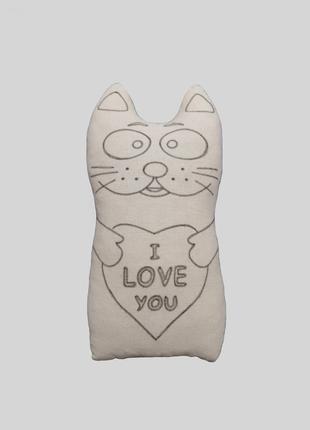 Кот мягкая игрушка для росписи