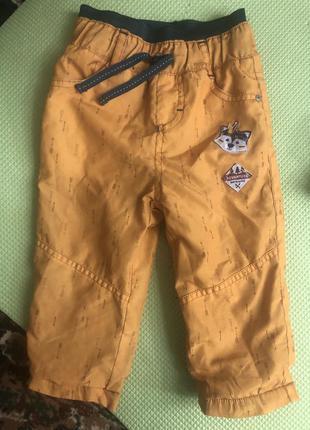 Жёлтые штаны зима / осень с утеплением