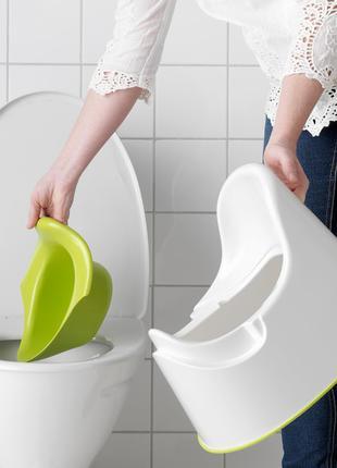 Горшок детский IKEA LOCKIG зеленый белый