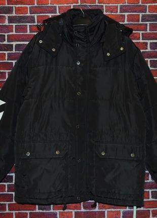 Шикарная мужская куртка off-white black на зиму (-15%)