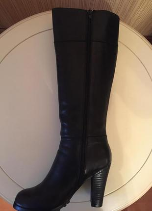 Классические кожаные высокие сапоги asos...