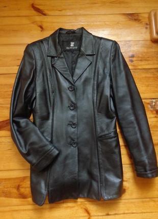 Кожаная куртка утепленная