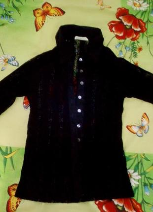 Блузка прозрачная черная