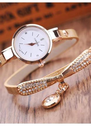 Женские часы браслет со стразами Carude.
