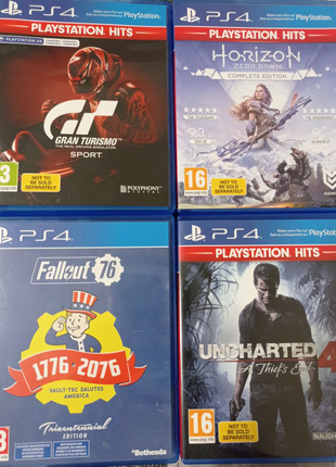 Диски Playstation 4 Fallout 76 Gran Turismo Uncharted 4