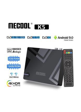 Mecool K5 2/16Gb Android TV Box ТВ приставка Mi box s KM1KM9ProH9