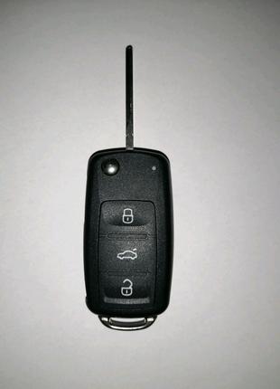 Корпус выкидного ключа Volkswagen Passat B 7, 3 кнопки новый!