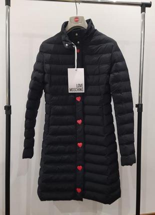 Новая куртка love moschino оригинал пальто пуховик премиум мос...