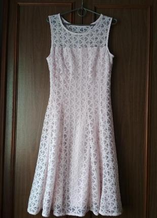 Женское стильное ажурное платье миди Roman Originals