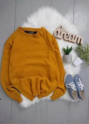 Яркий тёплый свитер джемпер с шерстью