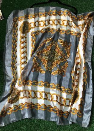 Винтажный платок , большой шелковый платок