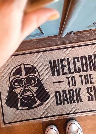 Коврик придверный welcome to the dark side 75*45*0,4 см (kov_2...