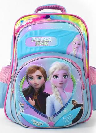 Школьный рюкзак для девочки голубой холодное сердце frozen 339...