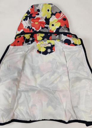 Демисезонная детская куртка ветровка для девочки красные цветы...