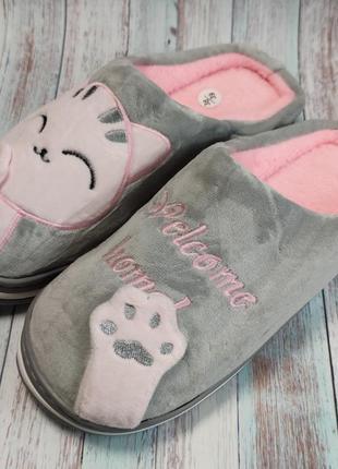 Детские меховые тапочки комнатные для дома домашние для девочк...