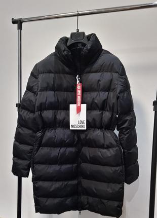 Новый пуховик love moschino оригинал куртка дутое пальто моски...