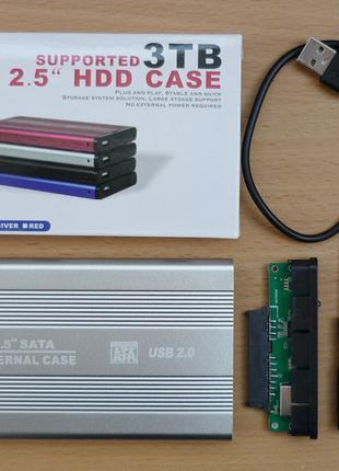 "Карман для жесткого диска HDD 2,5"" SATA USB новый"