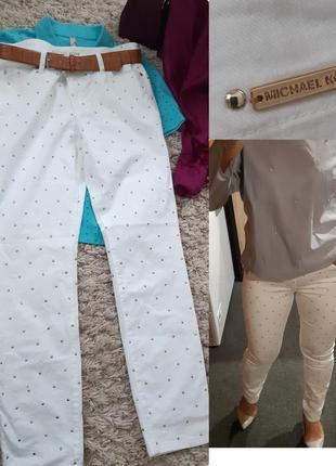 Шикарные белые джинсы с декором от michael kors,  p. 38/40