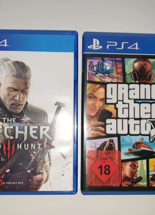 Игры на PS4-PS5 Grand Theft auto 5 / the Witcher 3
